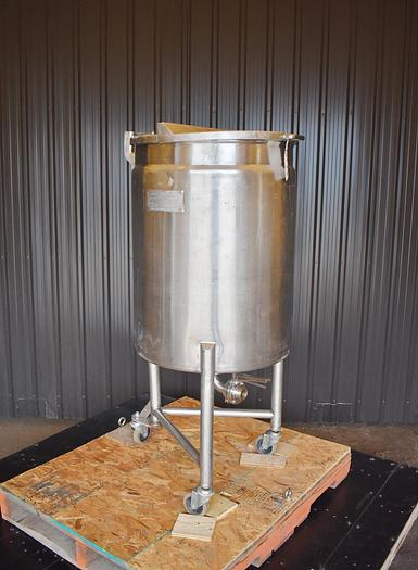 Used USED 60 GALLON JACKETED TANK, 304 STAINLESS STEEL