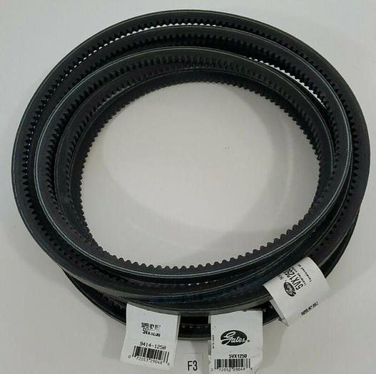"*NEW* LOT OF 3 Gates 5VX1250 Super HC 125"" Notched Cogged 5/8"" V-belt -Warranty"