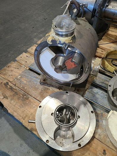 Used Rotary Lobe Positive Displacement Pump Stainless Steel Resin Liquid Pump
