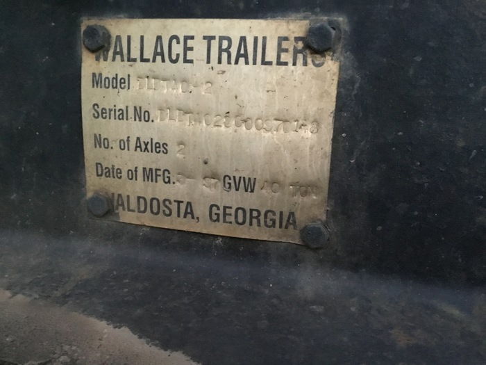 1997 Wallace Lowboy 40 ton