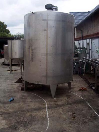 Used Zbiornik procesowy z płaszczem i mieszadłem - 5.000 l