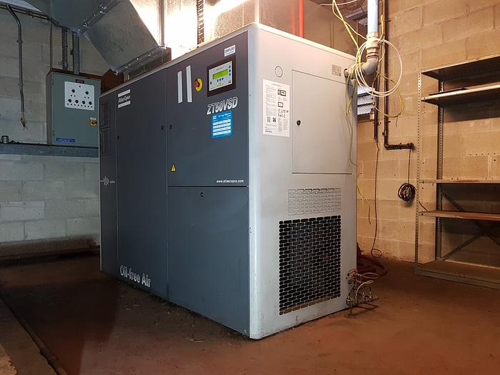 Used 2003 ATLAS COPCO ZT50 VSD Air Compressor (Oil Free)