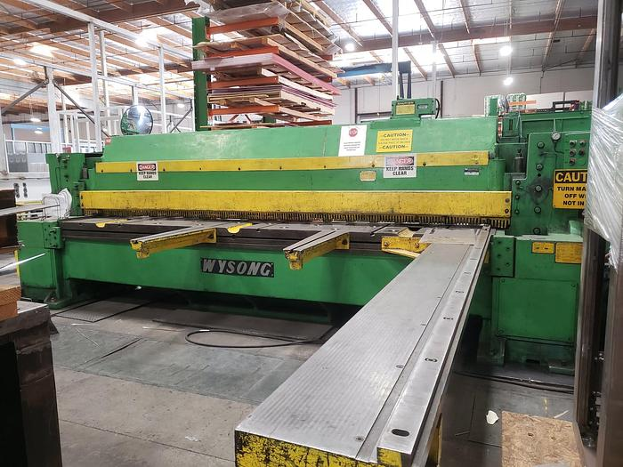 """Used 3/8"""" x 12' Wysong Mechanical Power Squaring Shear"""