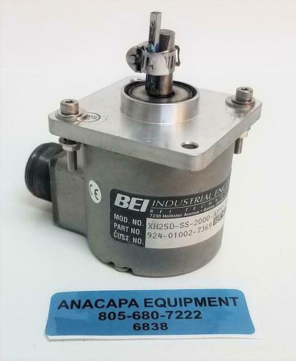 Used BEI Industrial XH25D-SS-2000-ABZC-4469-LED-SM18 Sensata Express Encoder (6838)