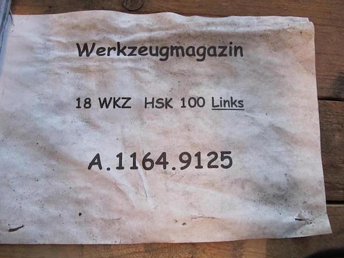 Werkzeugmagazin 18 fach  HSK 100 /63  Hueller Hille