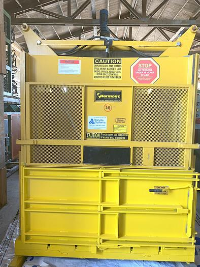 Used Harmony  Vertical Baler low profile 8ft tall