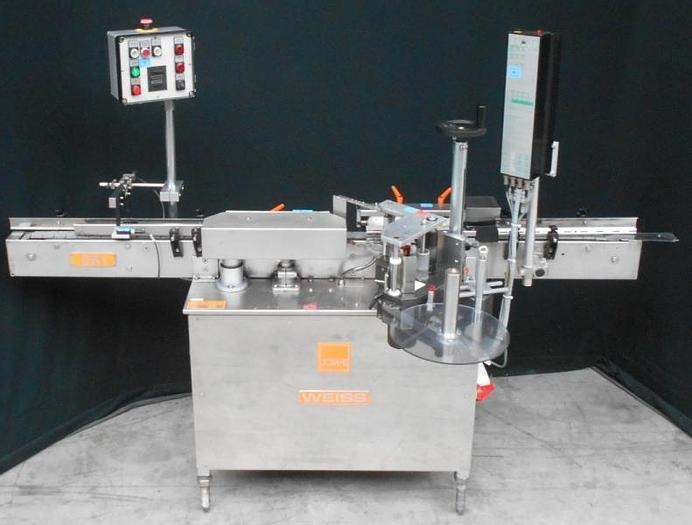 Used M 14855 D - Labeller WEISS SK 1 L for round objects