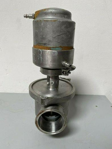 """Used Tri-Flo 361-30-220-3 Stainless Steel 2"""" Air-Actuated Valve"""