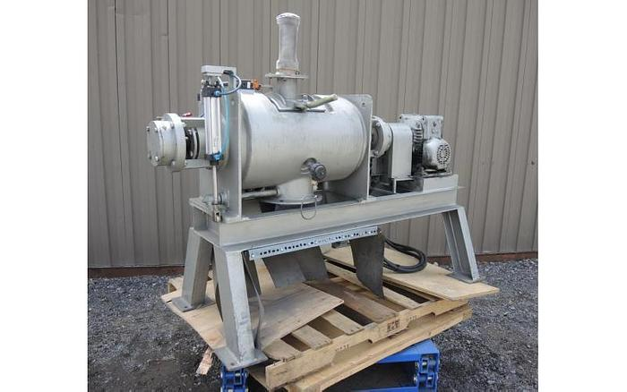 USED PLOW BLENDER, 2.2 CUBIC FEET, STAINLESS STEEL, JACKETED