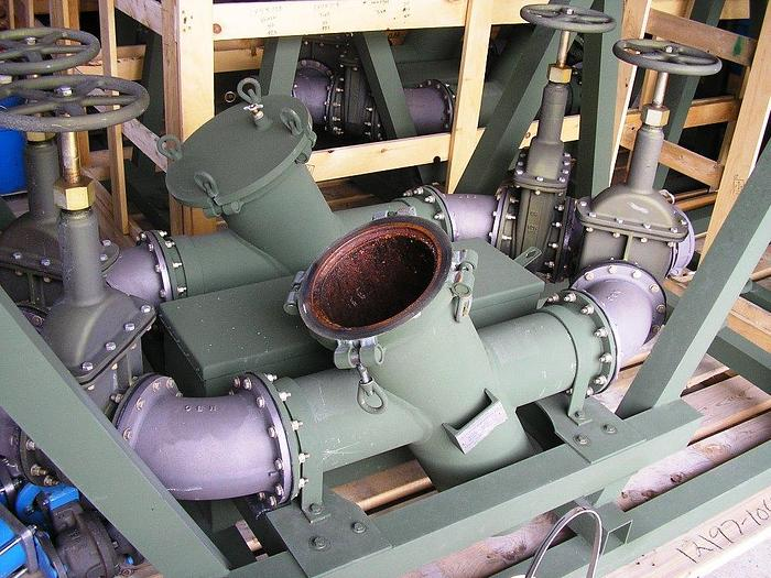 "Sure Flow 6"" Manifolded Sediment Strainers & Pumping Systems."