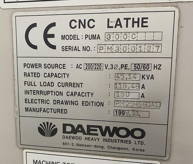 11/1999 Daewoo PUMA 300C