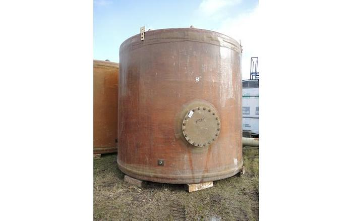 USED 8460 GALLON TANK, FIBERGLASS