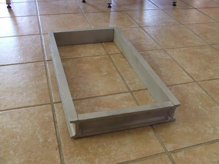 Używane Forma do bloków mrożonych z luźnym dnem - aluminiowa