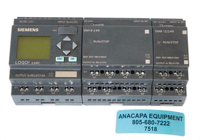 Used Siemens LOGO! Logic Module 24RC, DM16 24R, DM8 12/24R USED (7518) W