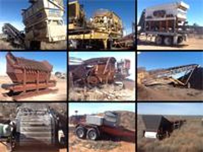 Used 26-PIECE CRUSHING/SCREENING SYSTEM