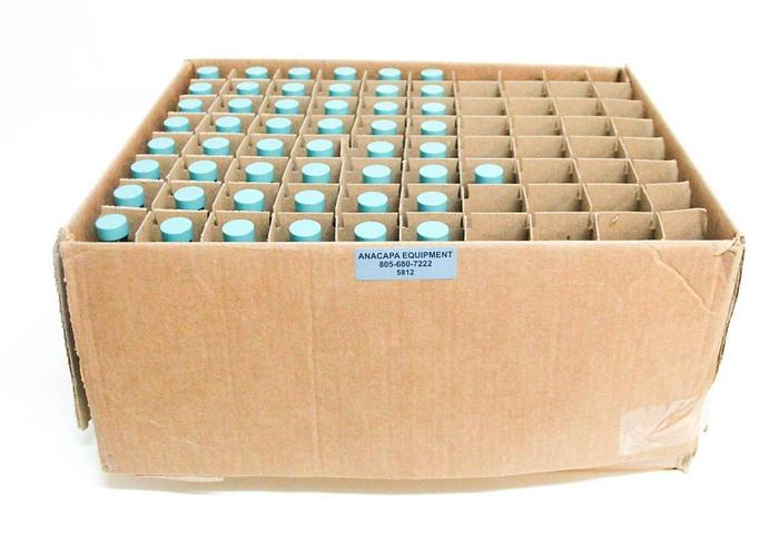 Qorpak GLC-01925 4oz Amber Bottles w/ Green Thermoset Caps NEW LOT of 129 (5812)
