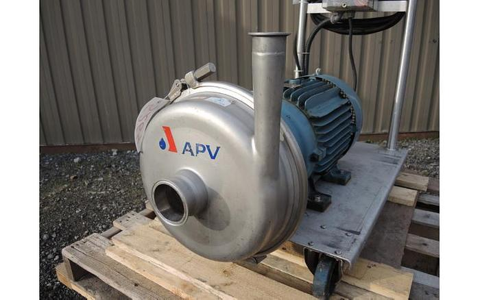 "USED CENTRIFUGAL PUMP, 3"" X 2"" INLET & OUTLET, STAINLESS STEEL, SANITARY"