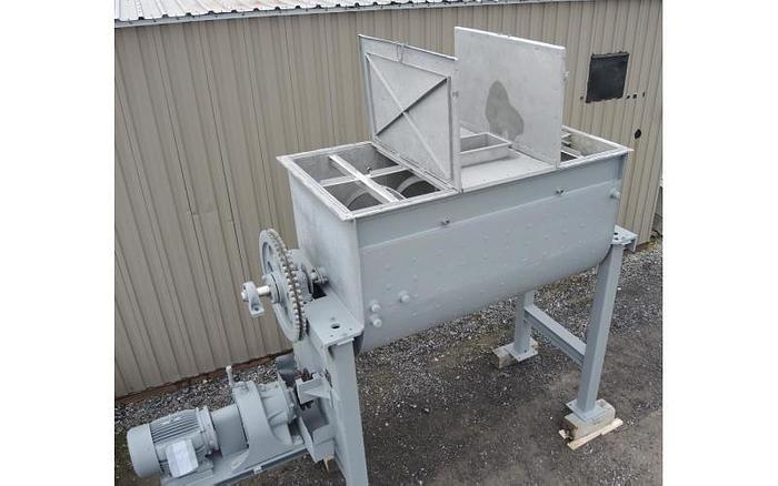 USED RIBBON BLENDER, 90 CUBIC FEET, DOUBLE RIBBON, STAINLESS STEEL, JACKETED