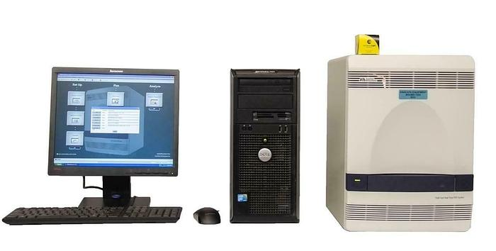 Used Applied Biosystems 7500 Fast Real-Time PCR System + Computer & Software (9033)R