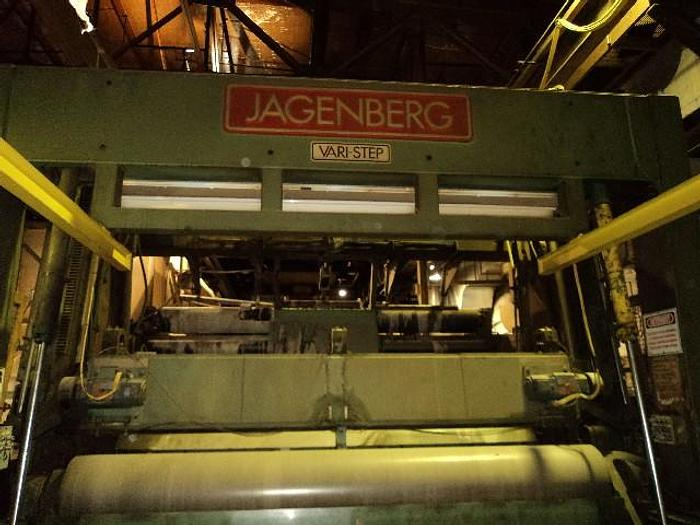 "Used 157"" (4.00M) JAGENBERG VARI STEP 65 60"" REWIND DIAMETER"
