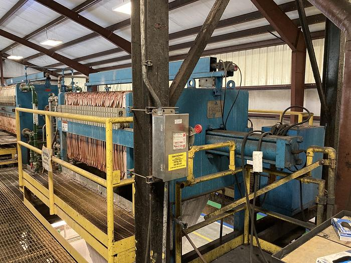 Used 25 CU. FT. ASCENSION INDUSTRIES FILTER PRESS (#9908)