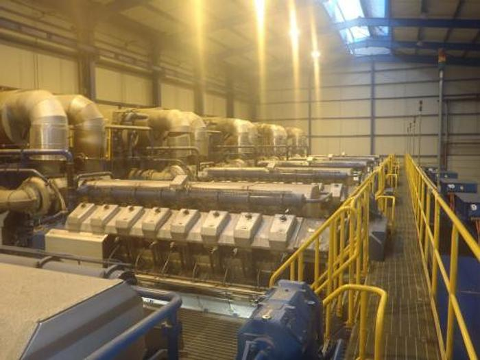 95 MW 2009 Used Wartsila 20V34SG Natural Gas Generator