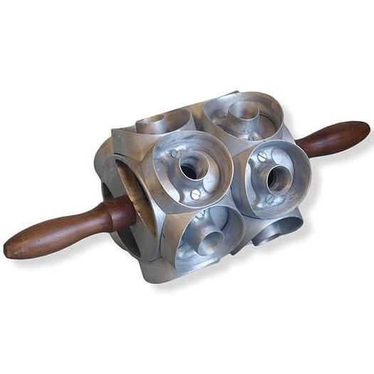 RING DONUT CUTTER, ROLLER-STYLE, 2-ACROSS, ROUND