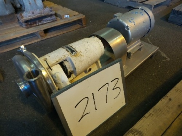 Tri-Clover 3'' x 1 1/2'' Stainless Steel Centrifugal Pump #2173