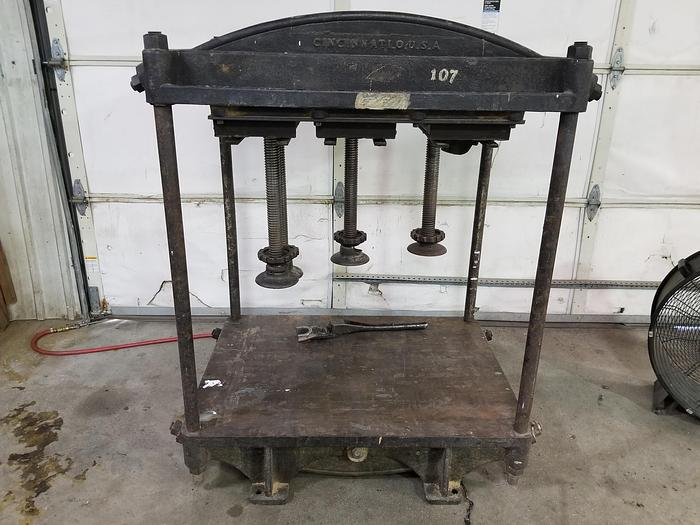 Used Charles E Francis  Cast Iron and Steel Manual Veneer Press / Project Press