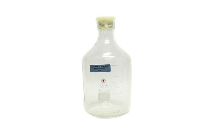 Used Schott Duran 5000ml Glass Heavy Wall Solution Bottle (5040)