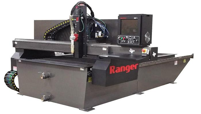 Heavy Duty CNC Plasma Cutter on a Crane Rail Floor Mounted System