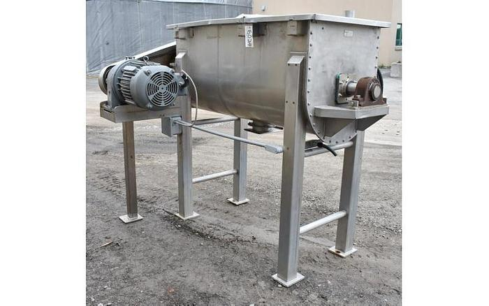 USED RIBBON BLENDER, 20 CUBIC FEET, DOUBLE RIBBON, STAINLESS STEEL, SANITARY