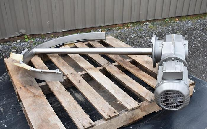 USED 3 HP SCRAPE AGITATOR MIXER, STAINLESS STEEL