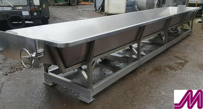 Used CPS Stainless Steel Cottage Cheese Vat / Draining Table