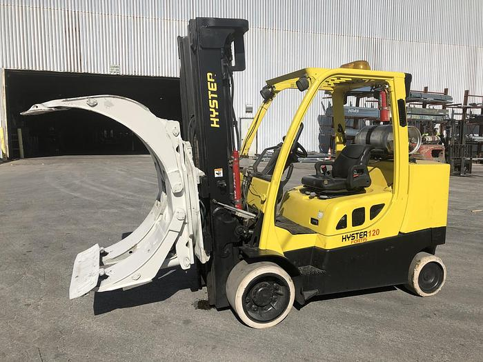 Used 12,000 POUND HYSTER MODEL S120FTPRS ROLL CLAMP TRUCK MFG. 2012