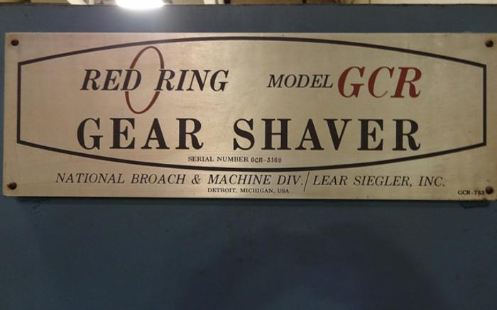 "NATIONAL BROACH GCR-12"" INTERNAL GEAR SHAVER"