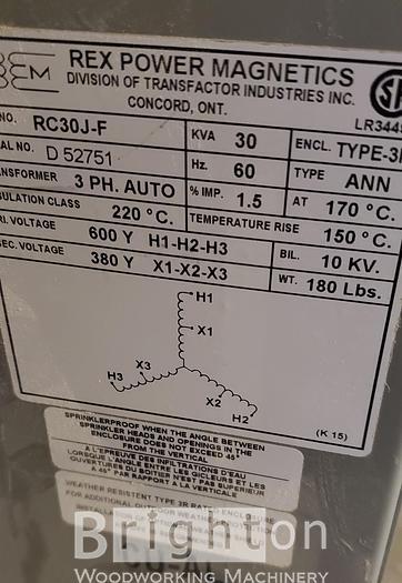 Rex Power Magnetics RC30J0F Transformer