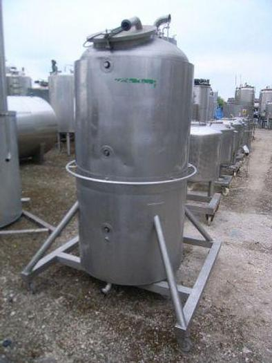 Used 600 Litre Stainless Steel Double Grundy Tank with Mixer