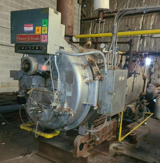Used 1977 Cleaver Brooks  CB200-60 60HP 150 PSI Steam Boiler firetude