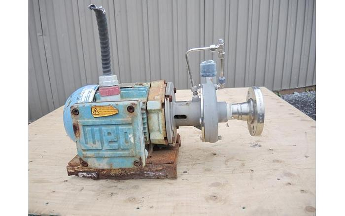 "Used USED CENTRIFUGAL PUMP, 1.25"" X 1"" INLET & OUTLET, 316 STAINLESS STEEL, XP MOTOR"