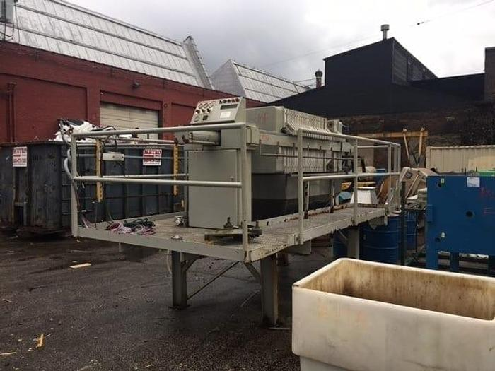 Used 10.5 CU. FT. JWI FILTER PRESS – 800 MM – C.G.R. – WITH CATWALK – #8772