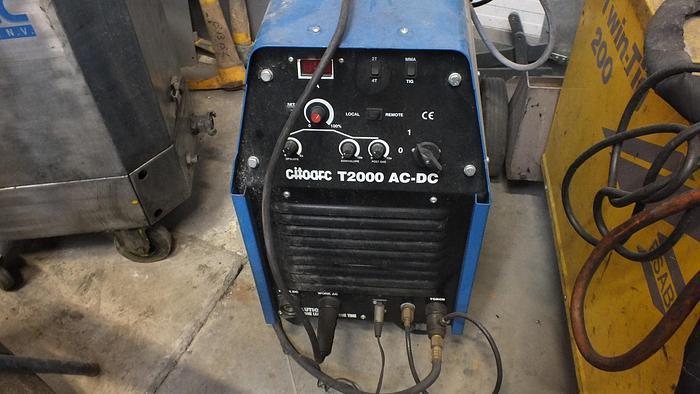 Used OERLIKON   CITOARC T2000 AC DC  Mobile Arc Tig Welding Unit