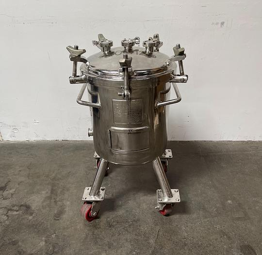 Used Precision 13 Gallon 316L Stainless Steel Jacketed Reactor 50 PSI
