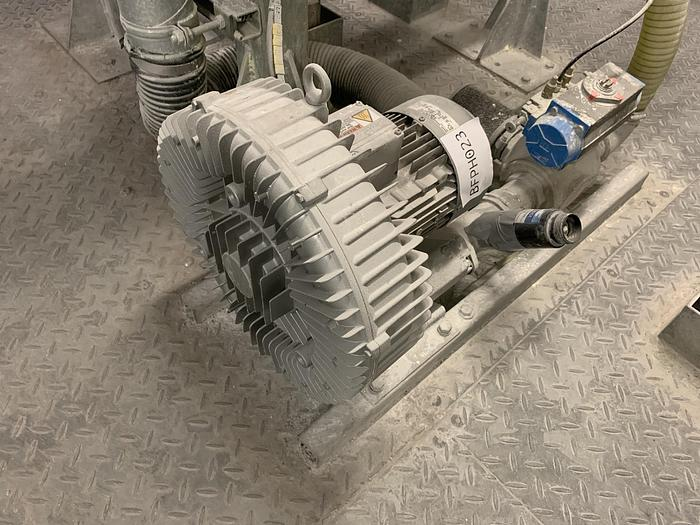 Used NASH ELMO Side Channel Vacuum Pump with HEPA filter