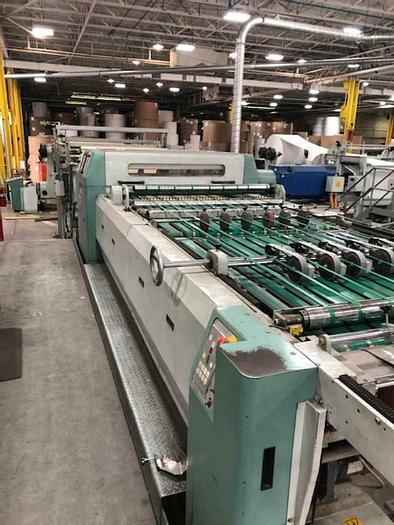 "Used 57"" (1.44M) PEMCO 1450 DUAL ROTARY KNIFE SHEETER"