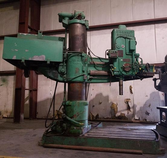 "5' x 15"" CINCINNATI-BICKFORD Radial Drill, #6 MT, Rapid Traverse, Power Clamping"