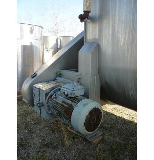 USED RIBBON BLENDER, 350 CUBIC FEET, DOUBLE RIBBON, STAINLESS STEEL, JACKETED