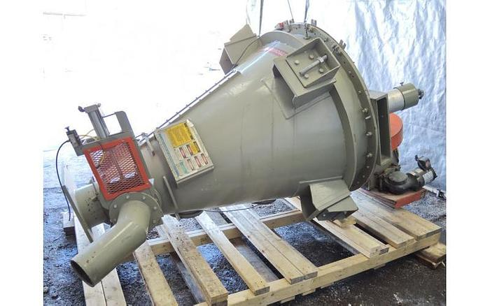 USED NAUTA MIXER, 10 CUBIC FEET, CARBON STEEL WITH ROTARY VALVE