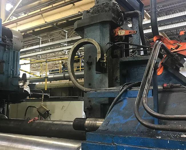"""Used 2750 ton x 9"""" Fielding & Platt Aluminum Extrusion Line: EX-495"""