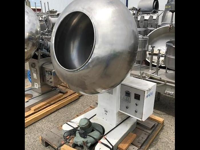 Used 40'' Stainless Steel Coating Pan With Blower